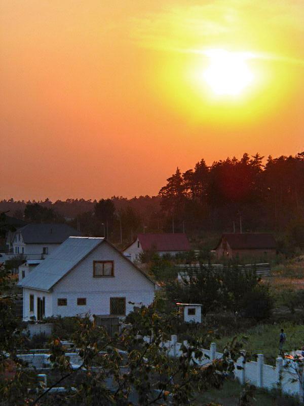 Закат в Черкассах на Луначарского