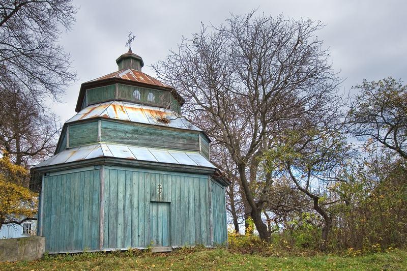 Колодное Тернопольская область деревянная церковь Колокольня