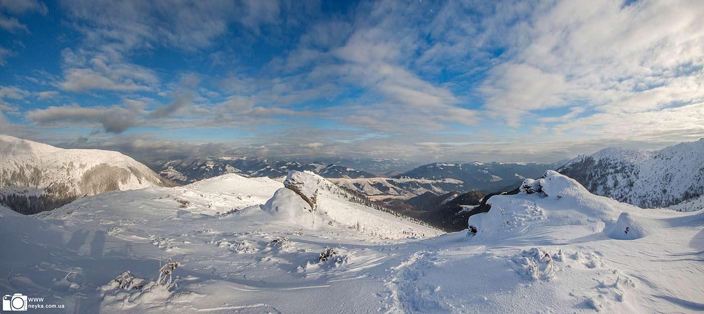 Черногорский хребет зимой