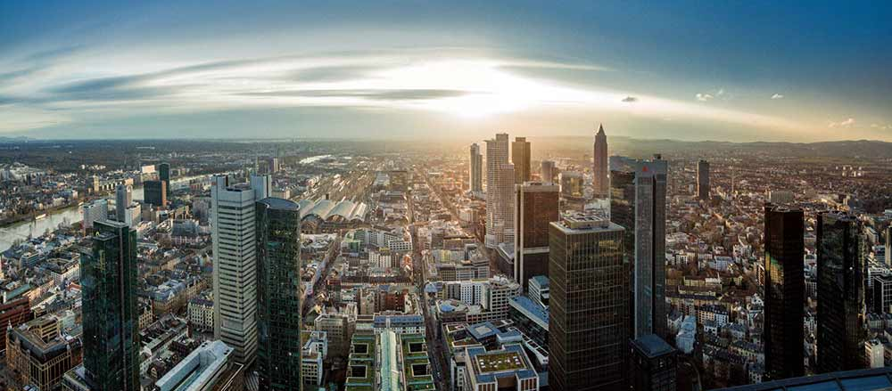 Франкфурт вид с небоскреба