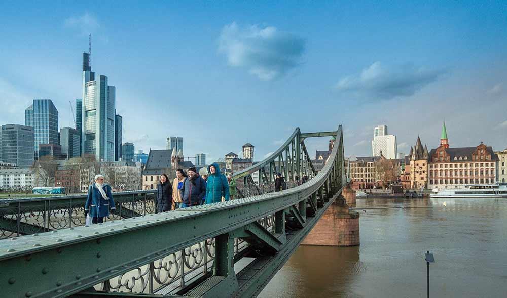 Франкфурт железный мост